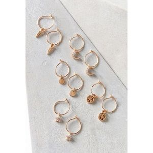 Urban Outfitters Mini Charm Hoop Earring Set